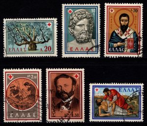 Greece 1959 Red Cross Commemoration, Part Set (excl. 3d) [Used]
