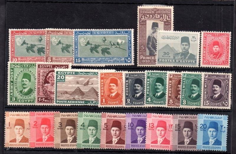 Egypt mid period mint MH/MNH collection (odd fault) WS8479