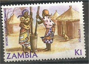 ZAMBIA 1983  MNH. 1k  Grinding corn Scott 252