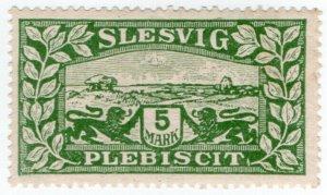 (I.B) Germany Postal : Slesvig 5M (1920)