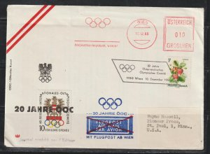 Austria  Meter Cover for International Olympic Committee Anniversary