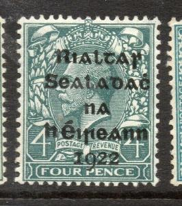 Ireland GV 1922 Early Issue Fine Mint Hinged 4d. Optd 303894