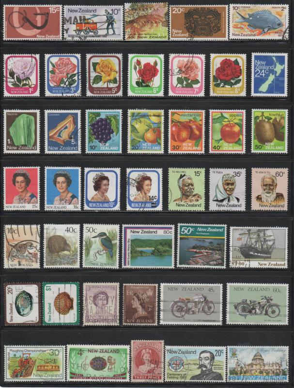 New Zealand~ Lot of 99 Different ~ Mixed Lot ~ cv 30.00+