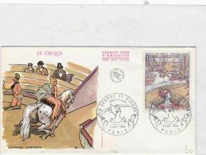 france 1969 paris circus f.d.c.   stamps cover Ref 9767