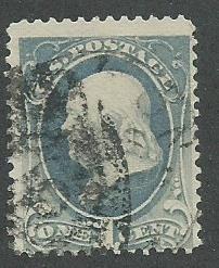 1870 United States Scott Catalog Number 134 Used