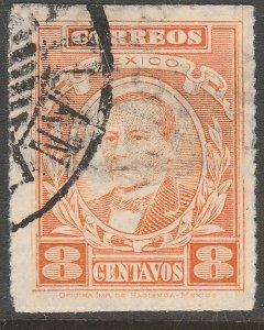 MEXICO 666, 8¢ BENITO JUAREZ. USED.VF.  (441)