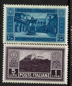 Italy SC# 236 and 237, Mint Hinged, Hinge Remnant, see notes - S4233