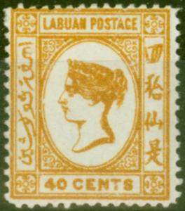 Labuan 1894 40c Orange-Buff SG57 Good Mtd Mint