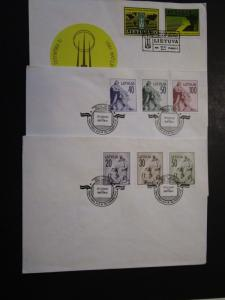 Latvia 5 First Day Covers / Light Corner Creases from Mounting (IV) - M24