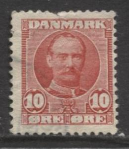 Denmark - Scott 73 - Definitive Issue -1907 - Used - Single 10o Stamp