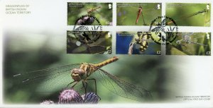 BIOT Brit Indian Ocean Terr Insects Stamps 2019 FDC Dragonflies Dragonfly 6v Set
