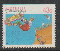 Australia SG 1181a  FU -    from booklet imperf  top  -  ...