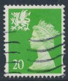 Great Britain Wales  SG W79 SC# WMMH70 Used  20p Machin see scan