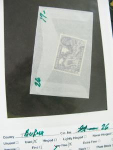 Burma Stamps Mint And Used Early Key Selection Catalogue $1,500