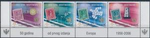 Montenegro stamp 50th anniversary of Euro corner stripe of 4 MNH 2006 WS190240