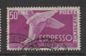 Italy - Scott E24 - Expresso Post -1945 - Used - Single 50 Lire Stamp
