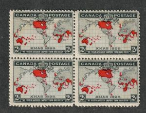 Canada Sc#85 M/NH/F, Block Of 4, Perf Seps, Cv. $400