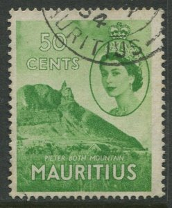 STAMP STATION PERTH Mauritius #260 QEII Definitive Issue FU 1953-1954
