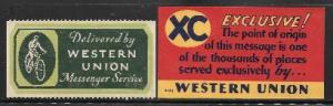 3838   USA Western Union stamp and card