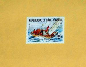 Ivory Coast - 632, MNH - Scouting Year, Sailing. SCV - $1.25