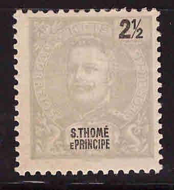 St. Thomas & Prince Islands  Scott 39 MH* King Carlos1898-1903 issue