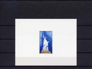 Senegal 1986 Statue Liberty Cent.DeLuxe SS (1) mnh SC#700