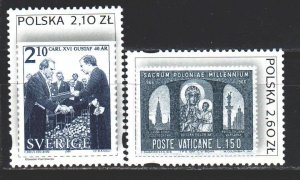 Poland. 2003. 4089-90 from the series. Stamps on stamps. MNH.