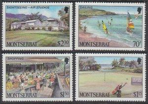 1986 Montserrat 658-661 Tourism 6,00 €