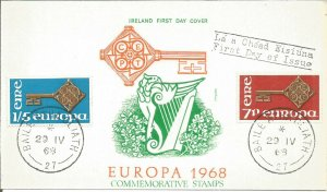 Maximum Card EIRE 1968 Europa Commemorative Stamps First Day Of Issue U3802