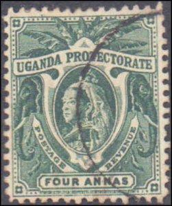 Uganda #73, Incomplete Set, 1902, Used