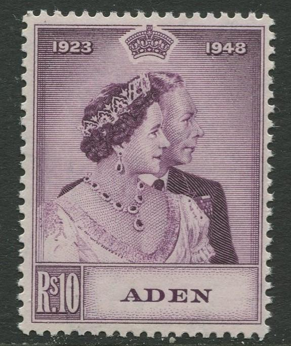 Aden - Scott 31 -  Silver Wedding Issue-1948 - MNH - Single 10rs Stamp