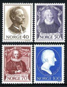 Norway 562-565, MNH. Norwegian zoologists: G.Sars, Strom, Gunnerus, M.sars, 1970
