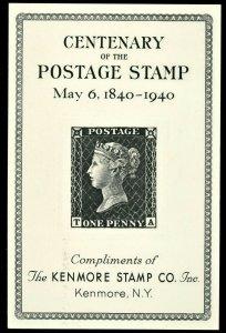 1940 Centenary Anniversary Kenmore Stamp Co  NY