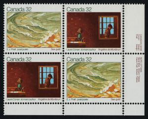 Canada 979a BR Plate Block MNH Art, Writers