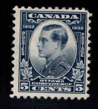 CANADA Scott 193 MH* 1932 5c Prince Edward stamp hinge remnant and ink in gum.