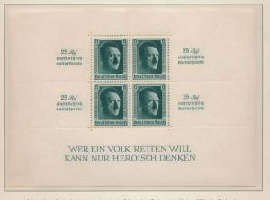 Germany Stamp Scott #B106, Mint Lightly Hinged, Stamps NH, Souvenir Sheet - F...