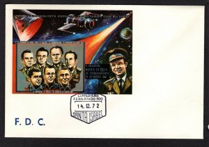 Equatorial Guinea  #72243 1972 Astronaut Memorial 250+50e imperforate sheet  FDC