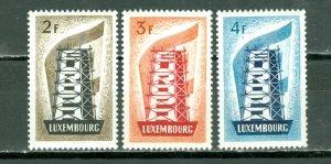 LUXEMBOURG 1956 EUROPA #318-320...SET...MNH..$155.00