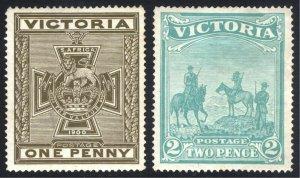 Victoria 1900 1d - 2d Patriotic SG 374-375 Scott B3-B4 MM/MH Cat £355($465)