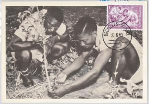63404 -  BELGIUM - POSTAL HISTORY: MAXIMUM CARD 1960 -  INDEPENDENCE of CONGO