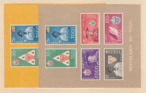 Togo Scott #401-406 Stamps - Mint NH Souvenir Sheet Set