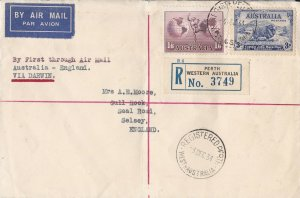 AFC221) AUSTRALIA 1934 1ST FLT.CVR.- AUSTRALIA- ENGLAND-AAMC 470