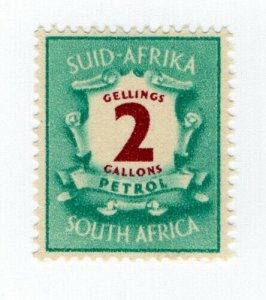 (I.B) South Africa Revenue : Petrol Ration Stamp (2 Gallons)