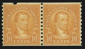 *603 VF, NH, COIL PAIR, SCOTT $16.00