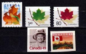 Canada 2003-  Def. Coils & Bklt ,MNH # 2008-2012