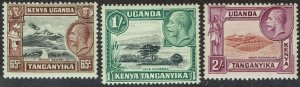 KENYA UGANDA & TANGANYIKA 1935 KGV PICTORIAL 65C 1/- AND 2/-