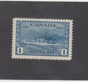 CANADA (MK3311) # 262 VF-MNH  $1 TRIBAL CLASS DESTROYER/ RCN CAT VALUE $150
