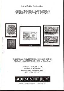United States, Worldwide Stamps & Postal History, Schiff 242