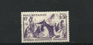 MAURITANIA  1938 - 40  1F 50  BRIGHT VIOLET       MH