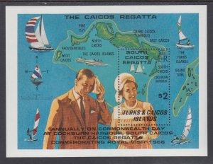 Turks and Caicos 467 Souvenir Sheet MNH VF